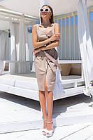 Женское летнее платье сарафан с пояском (44-48), фото 1
