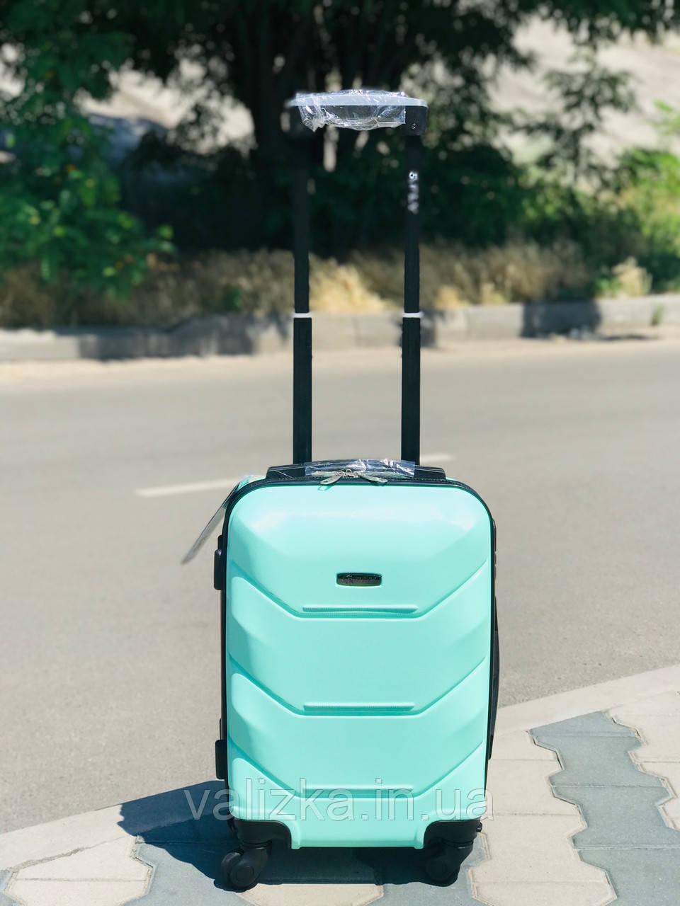 Пластиковый малый чемодан для ручной клади в бирюзовом цвете