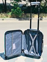 Пластиковый малый чемодан для ручной клади в бирюзовом цвете, фото 3