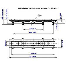Душевой канал MCH CH 750/50 MN1 с решеткой Медиум, фото 3