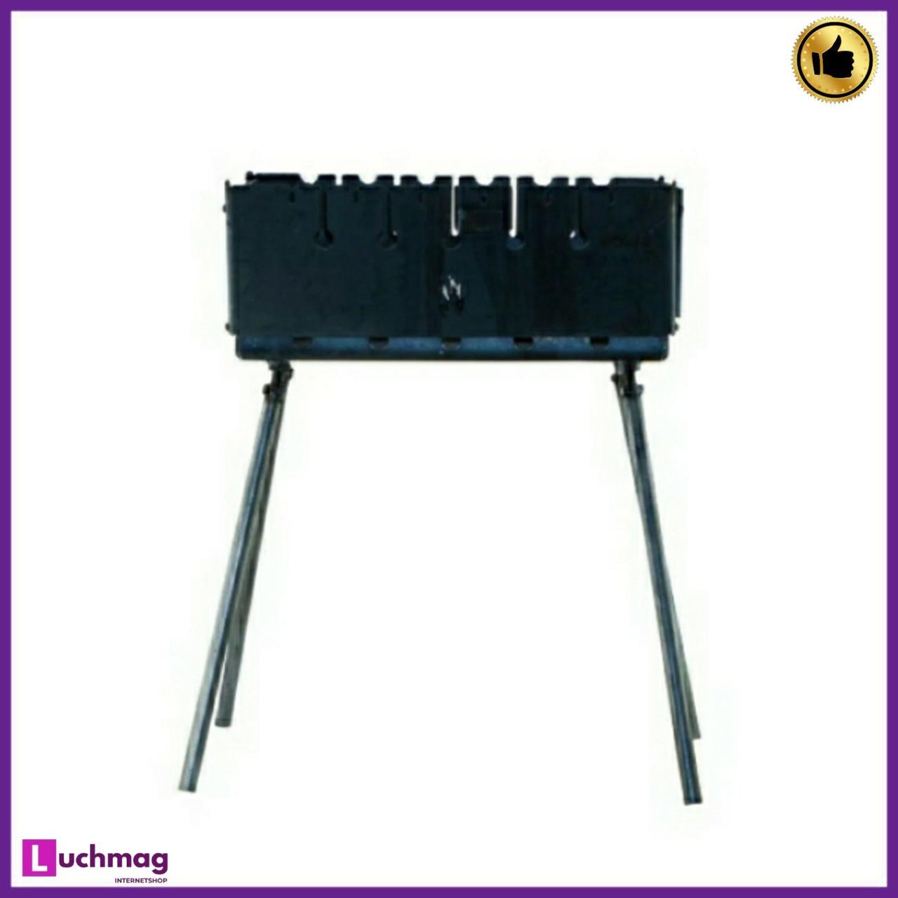 Мангал-чемодан на 10 шампуров (горячекатаный) толщина металла 2 мм