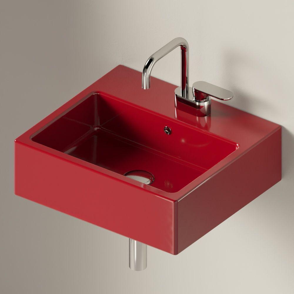 Раковина подвесная 50 см Flaminia Acquagrande Acqualight rosso rubens 5058