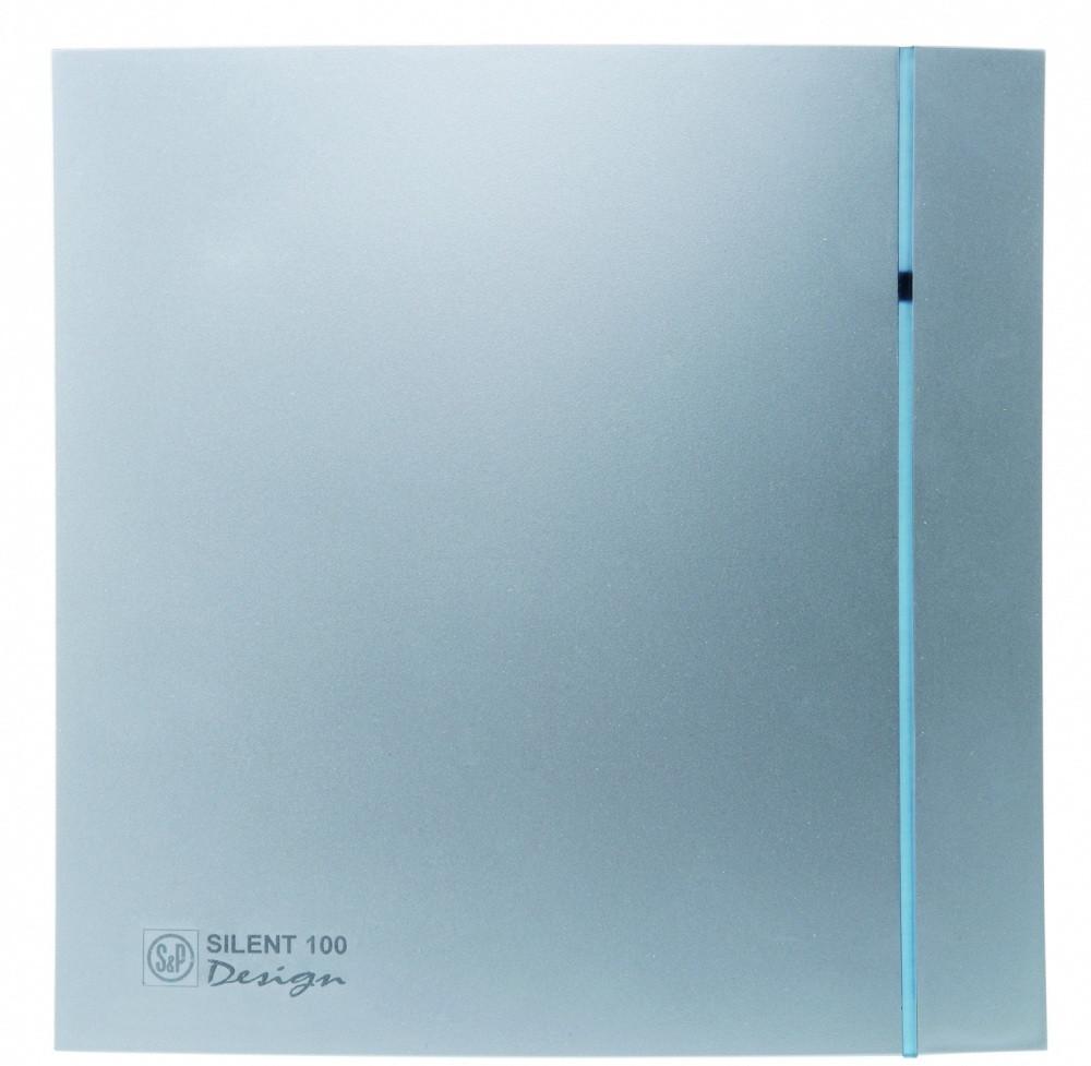 Малошумный вентилятор Soler & Palau SILENT-100 CHZ SILVER DESIGN 3C