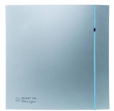 Малошумный вентилятор Soler & Palau SILENT-100 CHZ SILVER DESIGN 3C, фото 2