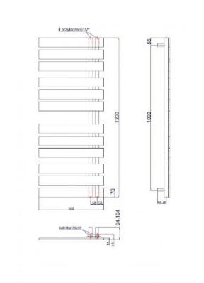 Полотенцесушитель Instal Projekt NAMELESS, белый, Nam-50/120W, фото 2