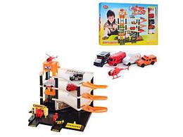 Детский игровой набор Joy Toy Parking Парковка 4 уровня с вертолетной площадкой