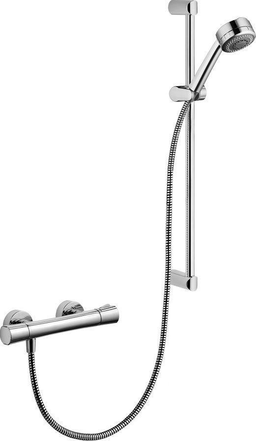 Душевой гарнитур с термостатическим смесителем Shower-Duo 2S 60см Kludi Zenta 6057605-00