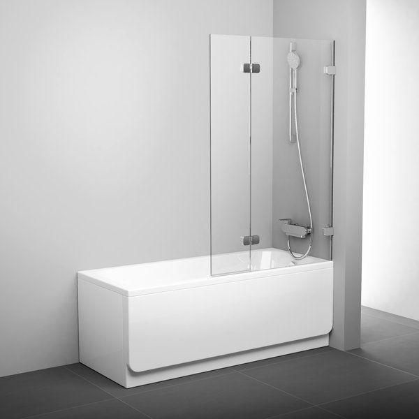 Штора для ванн BVS2-100 L хром+transparent
