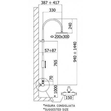 Душевая система с термостатом Paffoni Berry ZCOL 709 CR, фото 2