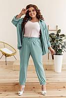 Женский летний костюм брюки на резинке снизу .Размеры:48-50,52-54,56-58.+Цвета, фото 1