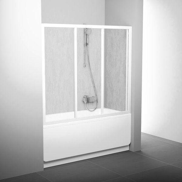 Двері для ванн AVDP3-120 сатин+transparent
