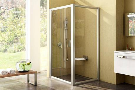 Душові двері з нерухомою стінкою Rapier RPS-80 білий+grape 9RV40100ZG, фото 2