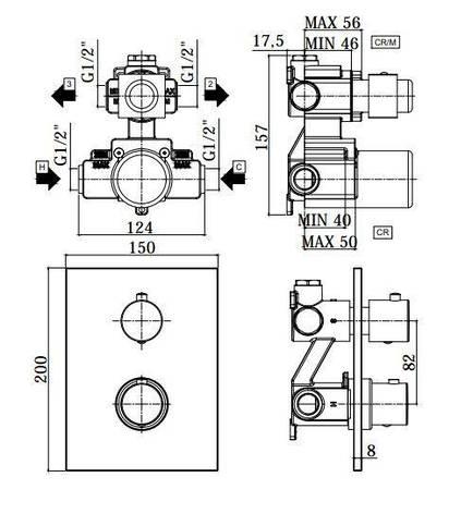 Смеситель с термостатом для душа Paffoni Light LIQ 518 CR, фото 2
