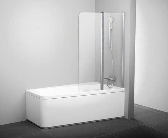 Штора для ванн 10CVS2-100 R білий+Transparent, фото 2