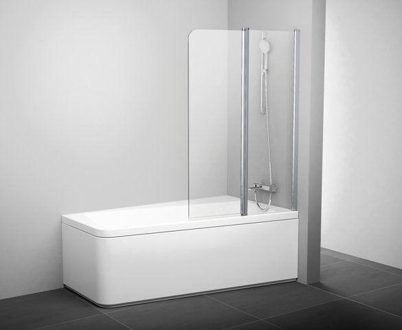 Штора для ванн 10CVS2-100 R полір.алюм.+Transparent