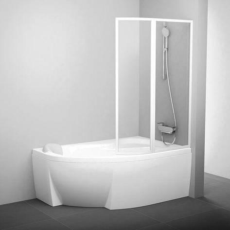 Штора для ванни VSK2 Rosa L 140 TRANSPARENT, фото 2