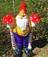 Фігура гнома для саду Гном Мухомор, 80 см