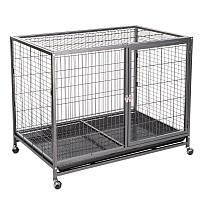 Металлическая клетка для собаки Dog Land с открывающимся верхом, с поддоном - 109,5 х 70 х 87,5 см