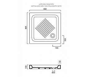 Квадратный керамический душевой поддон 80х80 Catalano Base 1808000, фото 2