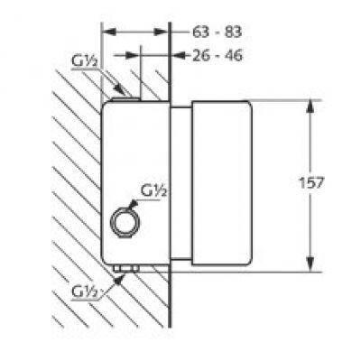 Kludi Внутренний блок термостата 35156, фото 2