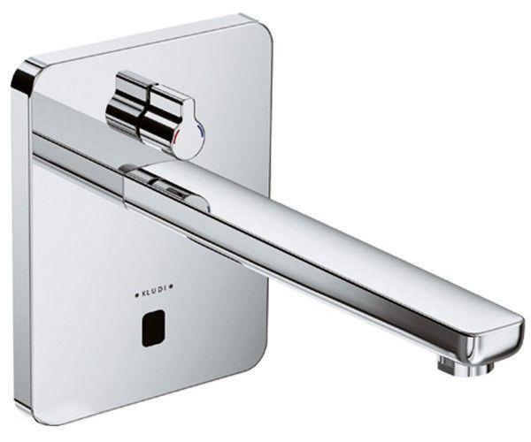 Смеситель для раковины электронный настенный сенсорный Kludi Zenta хром 3840005