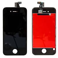 Дисплей для iPhone 4S, модуль в сборе (экран и сенсор), с рамкой, черный