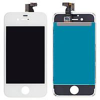 Дисплей для iPhone 4S, модуль в сборе (экран и сенсор), с рамкой, белый