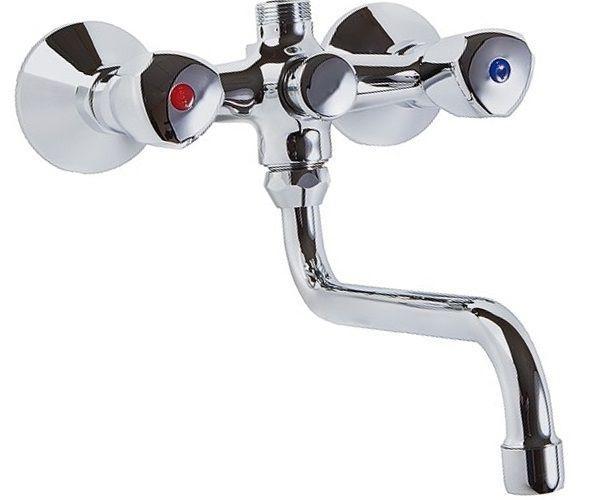 Смеситель двухвентильный для ванны с длинным изливом Kludi Standard хром 251210515