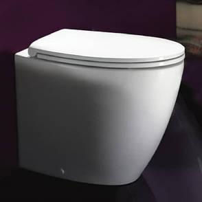 Сиденье с крышкой для унитаза с микролифтом Catalano VELIS белое 5V57STF000, фото 2
