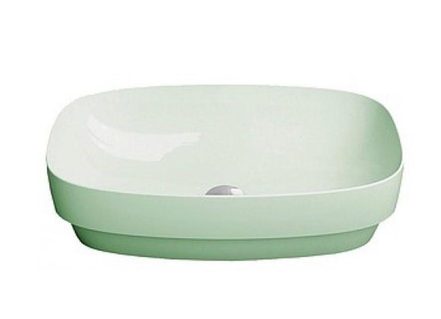 Раковина настольная или полувстраиваемая Catalano Green LUX 50х38 (Зеленый матовый) 150AGRLXVS