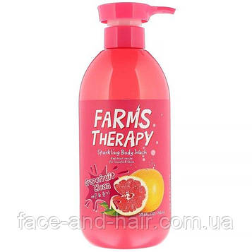 Гель для душа грейпфрут DOORI COSMETICS FARMS THERAPY Sparkling Body Wash for Smooth and Shine, Grapefruit