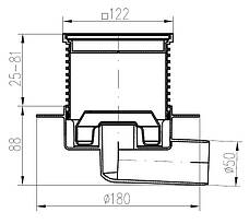Трап MCH металлическая решетка 425NL, фото 3