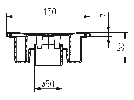 Трап MCH с гидрозатвором 320P, фото 2
