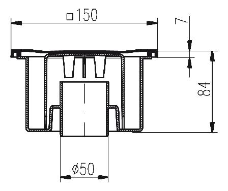 Трап MCH однокорпусный с гидрозатвором 321P, фото 2