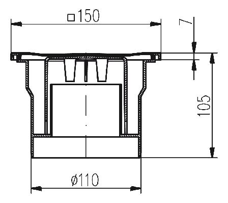 Трап MCH однокорпусный с годрозатвором 323P, фото 2