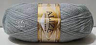 Нитки пряжа для вязания ANGORA GOLD Ангора Голд от ALIZE Ализе № 21 - серый