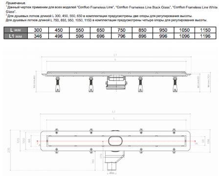 Душевой канал Pestan Confluo Frameless Line 750, белое стекло 13701214, фото 2