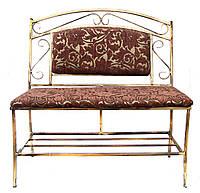 """Кованый диван """"трион"""" с мягким сиденьем и большой мягкой спинкай"""