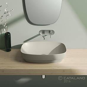 Раковина для ванной накладная Catalano Colori 60х38 (Серый матовый) 160AGRLXGS, фото 2