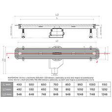 Душевой трап Pestan Confluo Slim Line 550 13100032, фото 2
