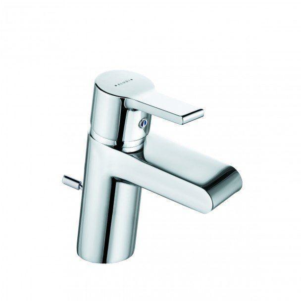 Смеситель для раковины однорычажный с донным клапаном каскадный Kludi O-Cean хром 383400575
