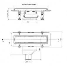 Душевой канал Pestan Confluo Premium 850 мм с решеткой из нержавеющей стали 13100006, фото 2