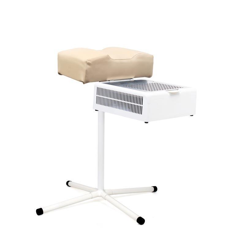 Подставка  для педикюра пуф для одной ноги с креплением для маникюрной вытяжки - пылесоса