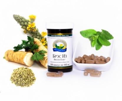 Натуральный препарат для дыхательной системы Брэс Из NSP (Свободное дыхание) для бронхов и легких США