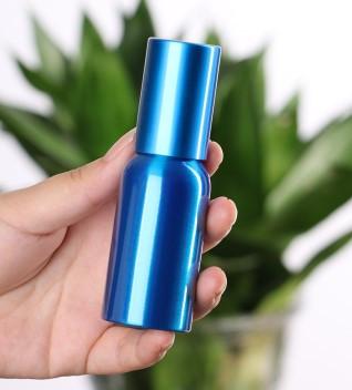 Флакон распылитель с мелкой дисперсией 50 мл алюминиевый Синий цвет