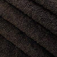 Ткань махровая тёмно-коричневая (Турция)