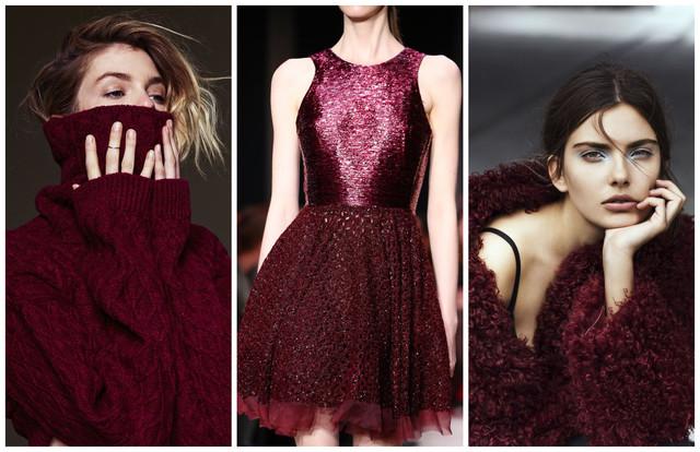 значение бордового цвета в одежде
