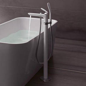 Смеситель однорычажный напольный (отдельностоящий) с душем Kludi Balance 525909175, фото 2