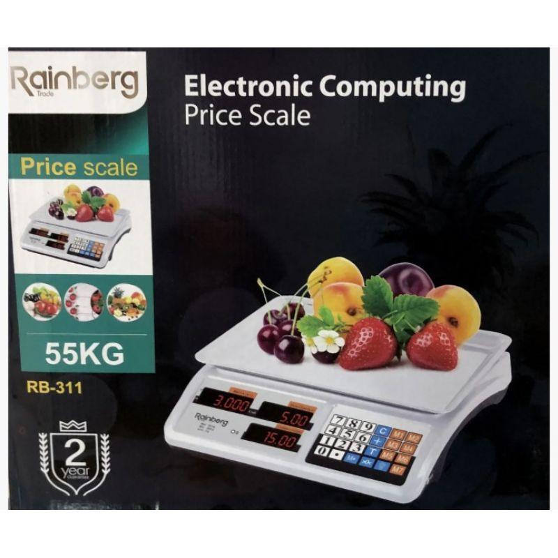Весы торговые электронные Rainberg RB-310 до 55 кг со счетчиком цены