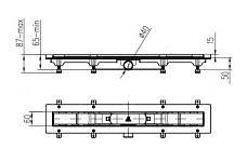 Душевой канал MCH CH-750S с решеткой Квадраты, фото 3